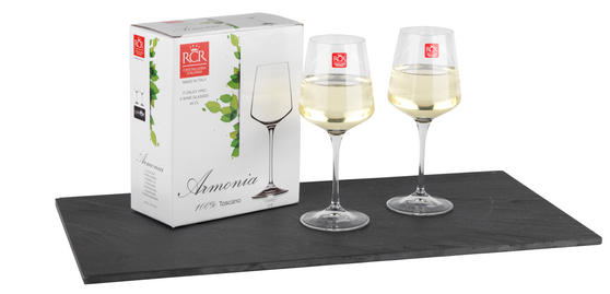 RCR Armonia Set Of 2 White Wine Glasses Luxion Glass 45cl 252300