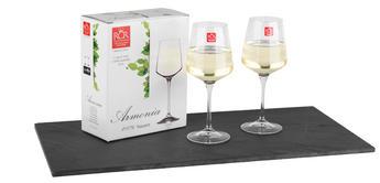 RCR Armonia Set Of 2 White Wine Glasses Luxion Glass 45cl 252300 Thumbnail 1