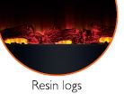 Log Resin for Beldray EH1162 Porto LED Electric Colour Changing Wall Fire Thumbnail 1