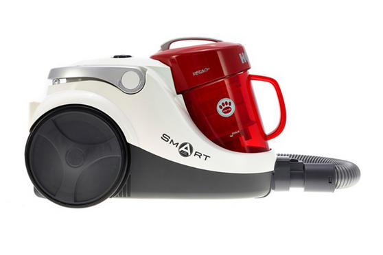 Hoover Smart Cylinder Vacuum Cleaner, 1.5 L 850 W - Red and White [Energy Class A]