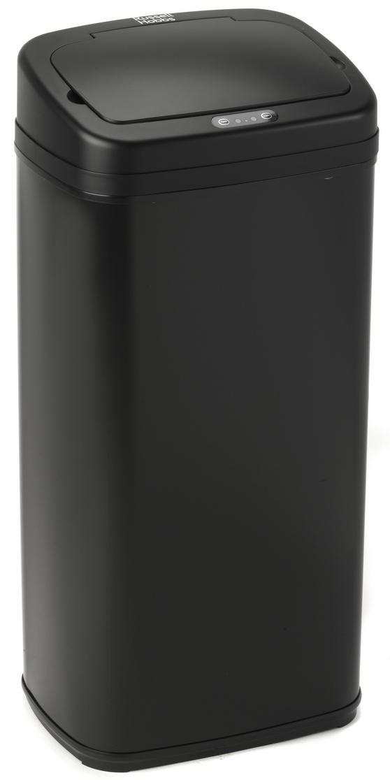 Russell Hobbs BW04179 Square Hands Free Motion Sensor Dustbin/Kitchen Bin, 40 Litre, Black