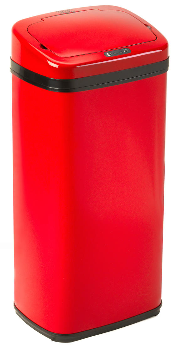 Red  Litre Sensor Bin Kitchen