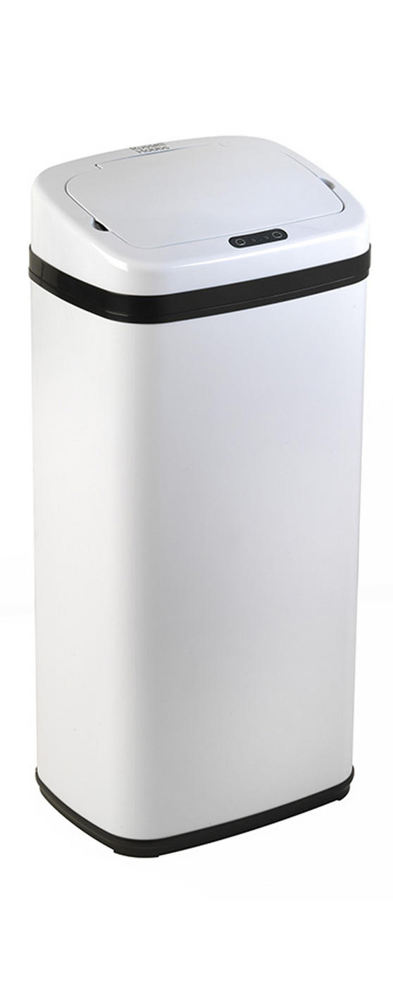 Russell Hobbs BW04179W Square Hands Free Motion Sensor Dustbin/Kitchen Bin, 40 Litre, White