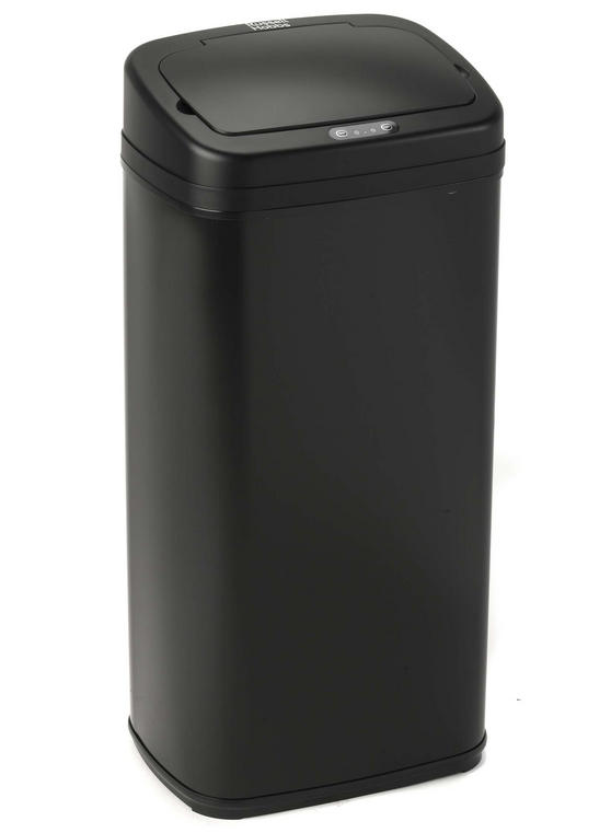 Russell Hobbs BW04511 Square Hands Free Motion Sensor Dustbin/Kitchen Bin, 30 Litre, Black