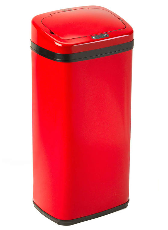 Russell Hobbs BW04511R Square Hands Free Motion Sensor Dustbin/Kitchen Bin, 30 Litre, Red