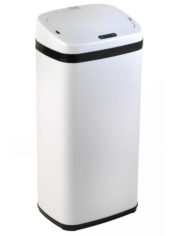 Russell Hobbs BW04511W Square Hands Free Motion Sensor Dustbin/Kitchen Bin, 30 Litre, White