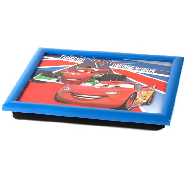 Disney Cars Lightning Mcqueen Padded Bean Bag Lap Tray