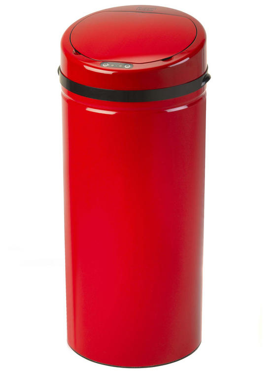 Russell Hobbs BW04512R Round Hands Free Motion Sensor Dustbin/Kitchen Bin, 30 Litre, Red
