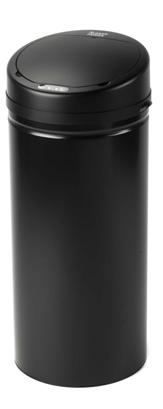 Russell Hobbs BW04610 Round Hands Free Motion Sensor Dustbin/Kitchen Bin, 40 Litre, Black