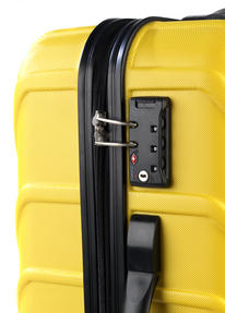 "Constellation Arc ABS Suitcase, 24"", Yellow Thumbnail 4"