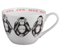 Portobello CM04804 Wilmslow Three Wise Monkeys Bone China Mug Set of 2 Thumbnail 1