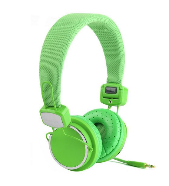 Intempo Green Neon Headphones