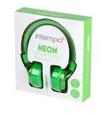 Intempo Green Neon Headphones Thumbnail 3