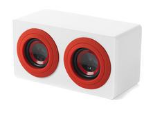 Intempo EE0996SWR White and Red Wooden Mini Blaster