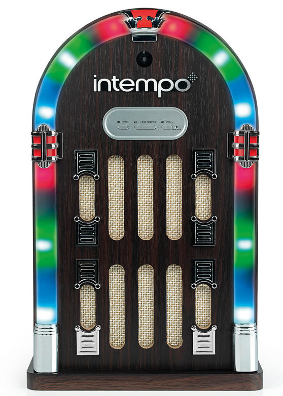 Intempo Brown Mini Bluetooth Jukebox