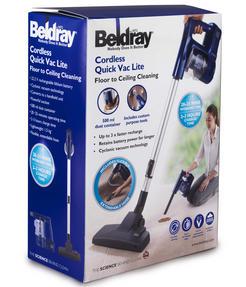 Beldray BEL0581 Cordless Quick Vac Lite, 22.2 V, Blue Thumbnail 9