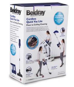 Beldray BEL0581 Cordless Quick Vac Lite, 22.2 V, Blue Thumbnail 10