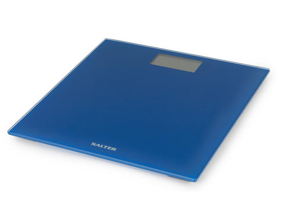 Salter 9069BL3R Ultra Slim Glass Electronic Scale, Blue