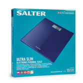 Salter 9069BL3R Ultra Slim Glass Electronic Scale, Blue Thumbnail 2