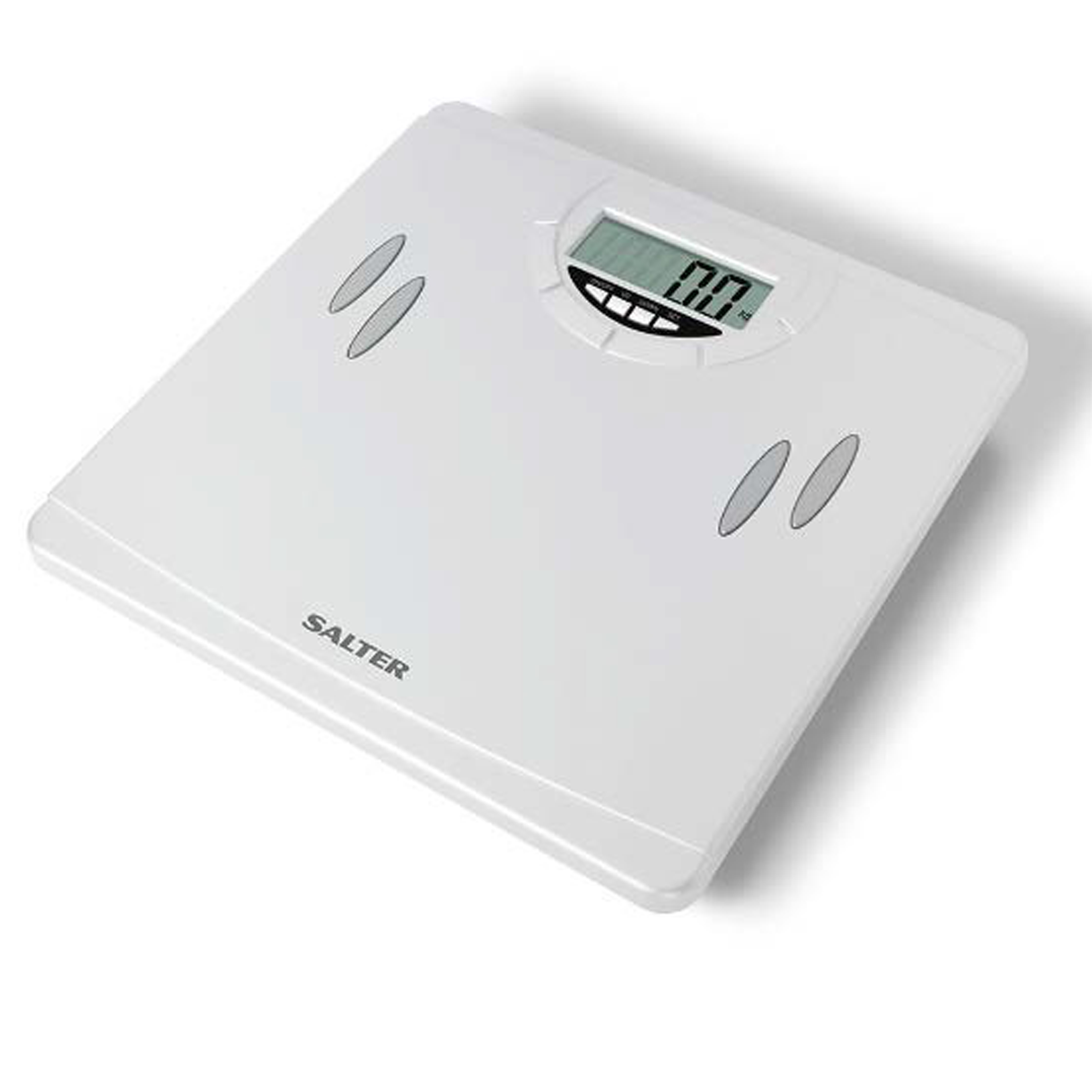Cheap Bathroom Scales Free Delivery: Salter 9139WH3T Compact Analyser Bathroom Scale, White