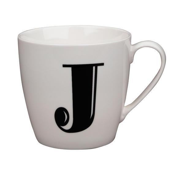 Cambridge CM04030 Harrogate J Black Alphabet Fine China Mug
