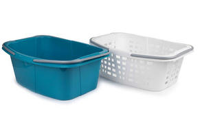 Beldray LA030450 Turquoise Set of 2 Laundry Baskets with Handles Thumbnail 1