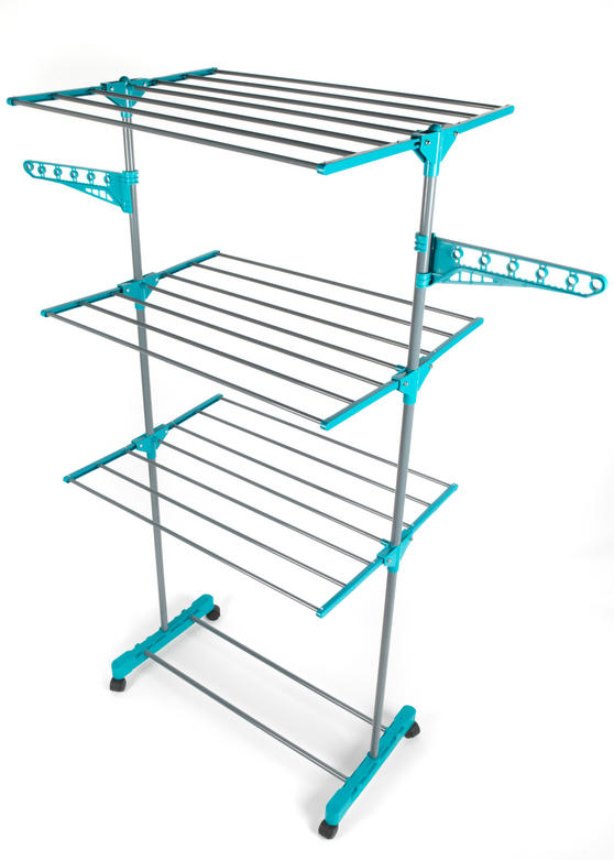Beldray LA023773TQ Deluxe Three-Tier Clothes Airer, 15 Metre Drying Space, Holds up to 15 KG