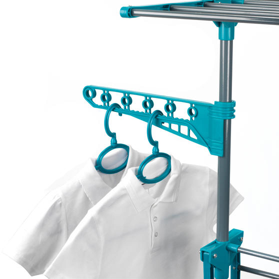 Beldray LA023773TQ Deluxe Three-Tier Clothes Airer, 15 Metre Drying Space, Holds Main Image 6