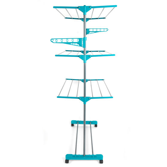 Beldray LA023773TQ Deluxe Three-Tier Clothes Airer, 15 Metre Drying Space, Holds Main Image 7