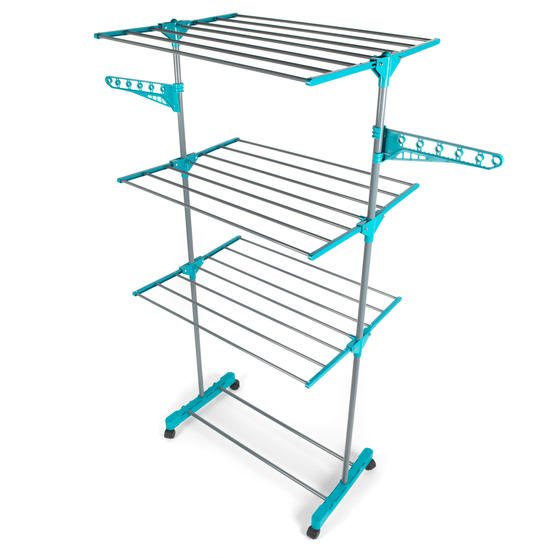 Beldray LA023773TQ Deluxe Three-Tier Clothes Airer, 15 Metre Drying Space, Holds Thumbnail 1
