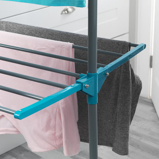 Beldray LA023773TQ Deluxe Three-Tier Clothes Airer, 15 Metre Drying Space, Holds Thumbnail 4
