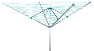 Beldray LA031198TQ Turquoise 50 Metre Rotary Outdoor Clothes Airer Thumbnail 1