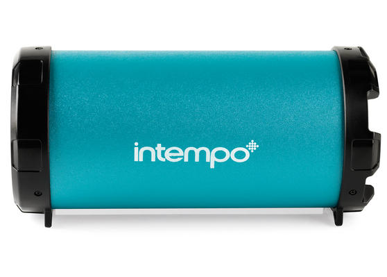 Intempo Turquoise Large Rechargeable Tube Speaker