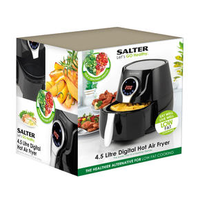 Salter Healthy Digital Hot Air Fryer with Non-Stick Cooking Basket, 4.5 L, 1400 W, Black Thumbnail 10
