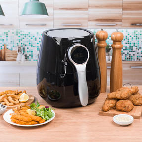 Salter EK2205 Healthy Digital Hot Air Fryer with Non-Stick Cooking Basket, 4.5 L, 1400 W, Black Thumbnail 2
