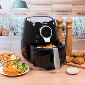 Salter EK2205 Healthy Digital Hot Air Fryer with Non-Stick Cooking Basket, 4.5 L, 1400 W, Black Thumbnail 8