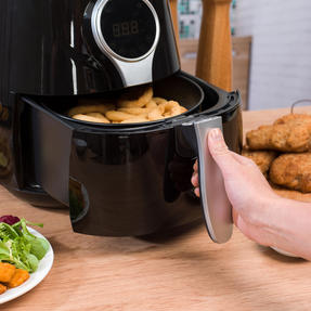 Salter EK2205 Healthy Digital Hot Air Fryer with Non-Stick Cooking Basket, 4.5 L, 1400 W, Black Thumbnail 9
