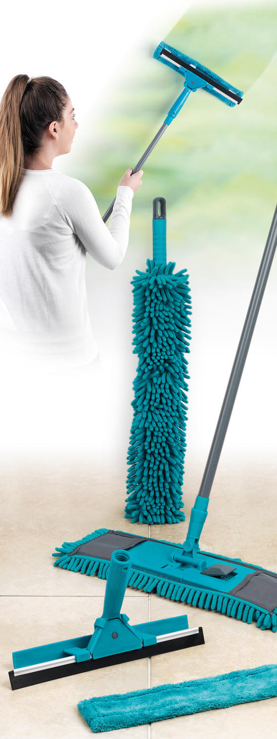 Beldray 7 Piece Duster and Mop Cleaning Set, Turquoise Thumbnail 1