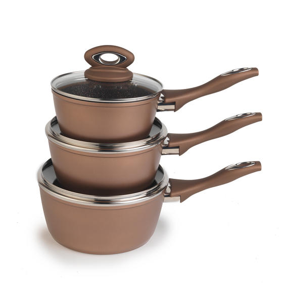 Salter Marble Collection Bronze 3 Piece Pan Set