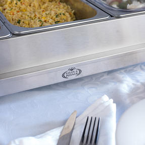Giles & Posner EK1471HMOB Large Three Pan Buffet Server With Lids, 300 W, Stainless Steel Thumbnail 7