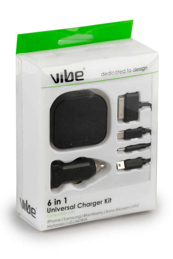 Vibe 535140 Universal 6 in 1 Charger Kit