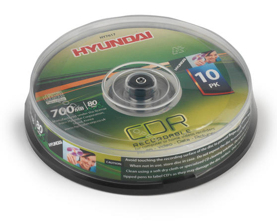 Hyundai HY7617 CDR Recordable 700Mb Disc Pack of 10