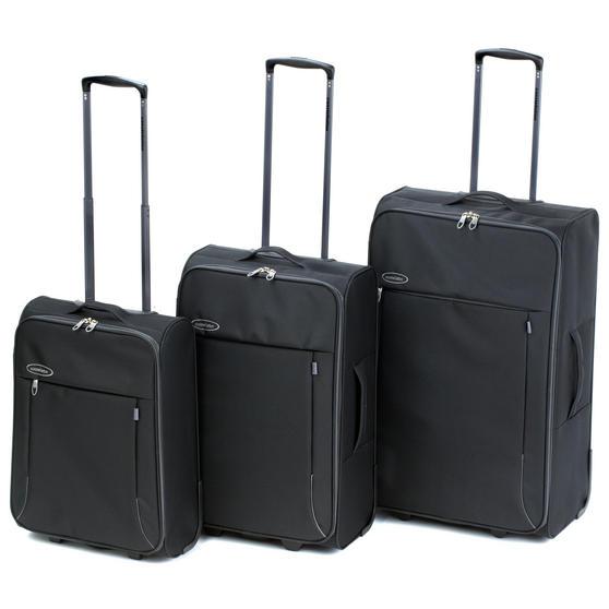 "Constellation Superlite Suitcase Set, 18, 24 & 28"", Black/Grey"