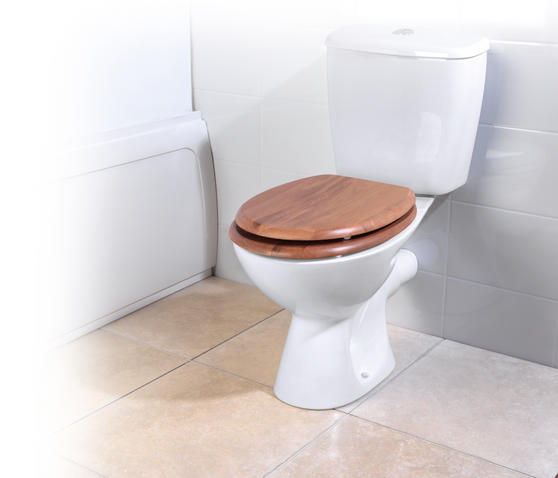 Beldray LA033710OAK 18? PVC Veneer Toilet Seat ? Oak Finish Thumbnail 1