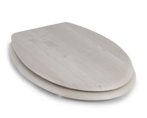 Beldray LA033710WOAK 18? PVC Veneer Toilet Seat ? Light Oak Finish