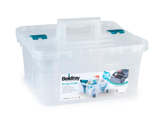 Beldray Small Clear Caddy with Lid Thumbnail 3