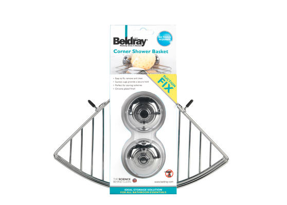 Beldray LA036155 Corner Suction Shower Basket Thumbnail 3