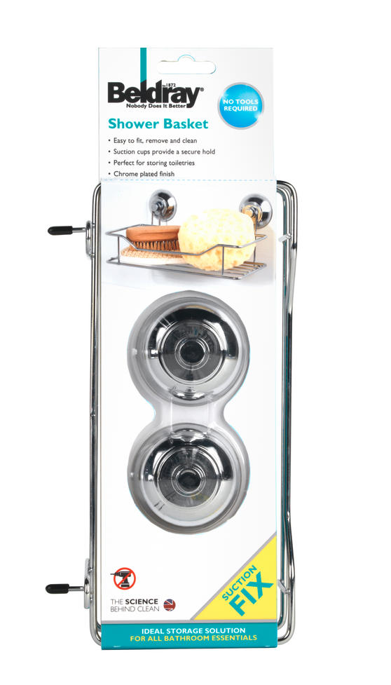 Beldray LA036179 Suction Shower Basket Thumbnail 3