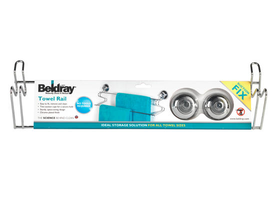 Beldray LA036193 Suction Towel Bar Thumbnail 5