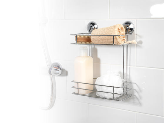 Beldray LA036230 Two Tier Suction Shower Basket Thumbnail 2